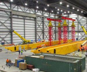 Hydraulic Gantry System in Rhode Island Overhead Crane Installation