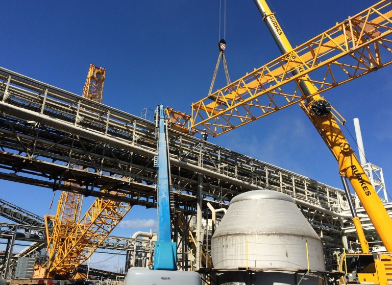 Buckner HeavyLift Cranes Supports Complex Heat Exchanger ...