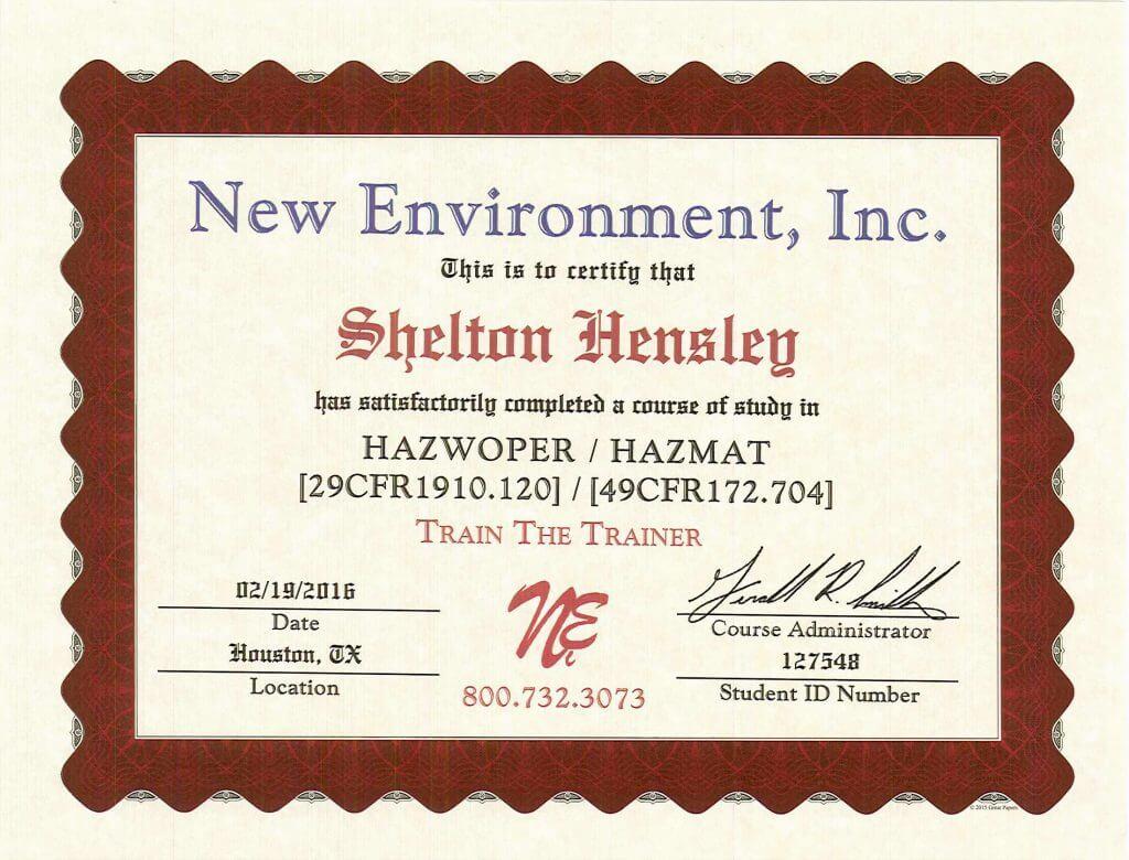 hazwoper training trainer buckner adds rigging industrial